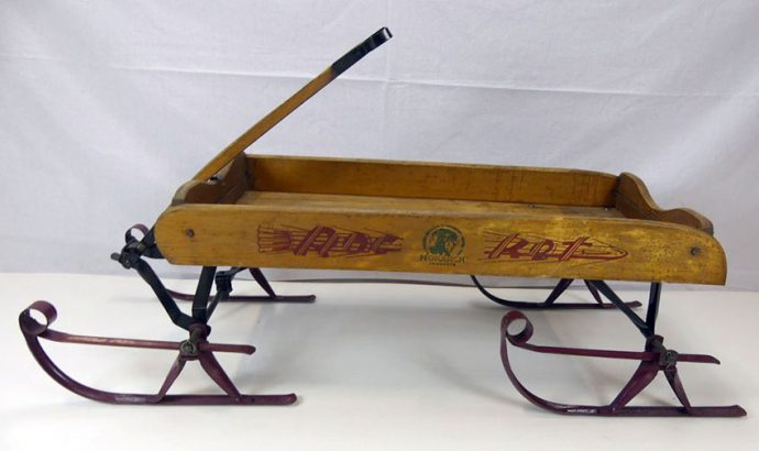 1920s Monarch Rocket Coaster Wagon with Skis 03