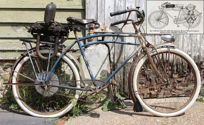 1920-1922 Johnson Motor Wheel 1930s Iver Johnson bicycle 0