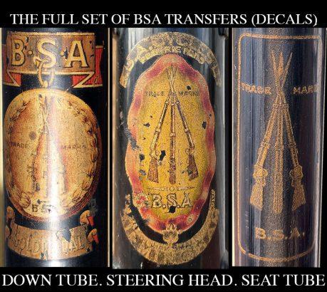 BSA Seattube Decal