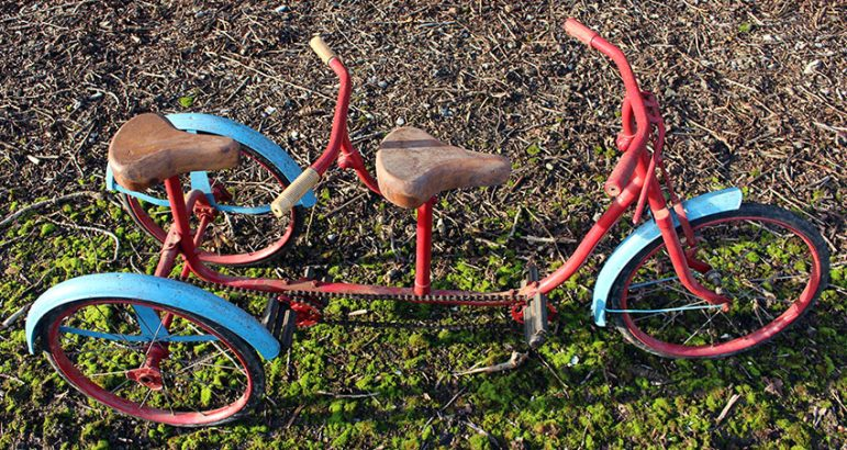 1960 Triang tandem tricycle 13