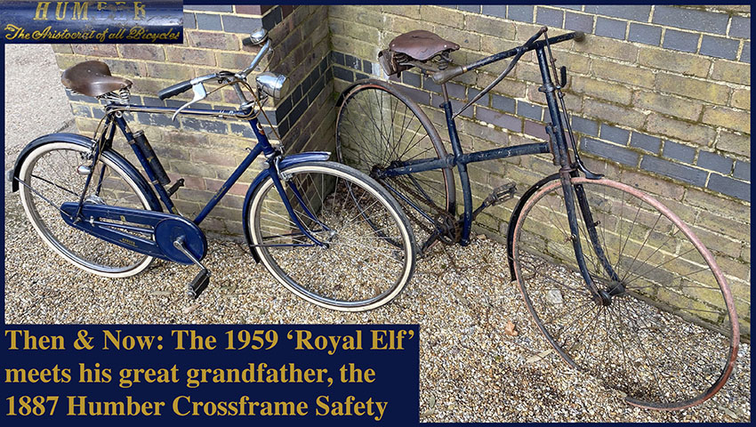 1887 Humber crossframe & 1959 Humber Royal Elf