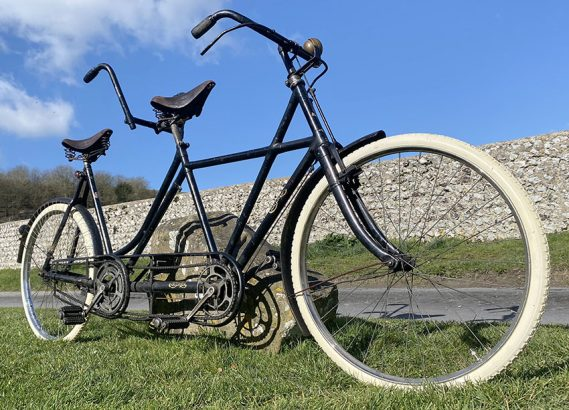 1909 Chater Lea X frame Lady-back Tandem 05