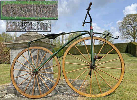 1869 LEDWIDGE velocipede Dublin Ireland 1