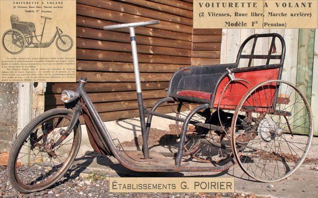 1930s Poirier Voiturette a Volant Tricycle